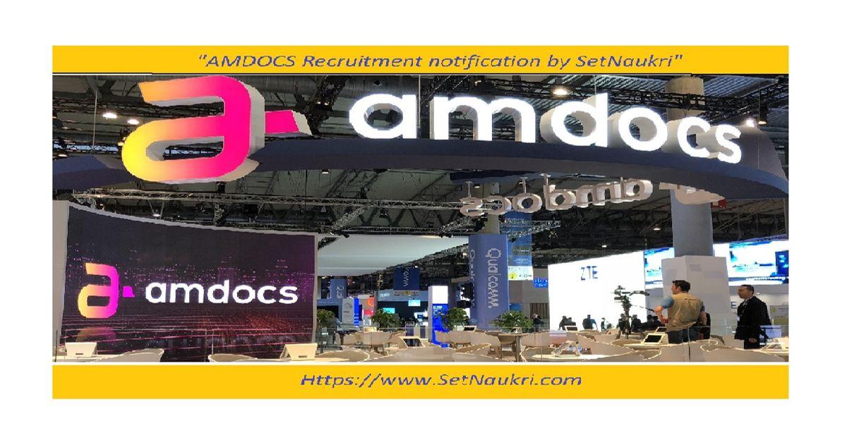 Amdocs recruitment   Off-Campus  BSC/BCA/BCS/MSC   2019 Batch – Set