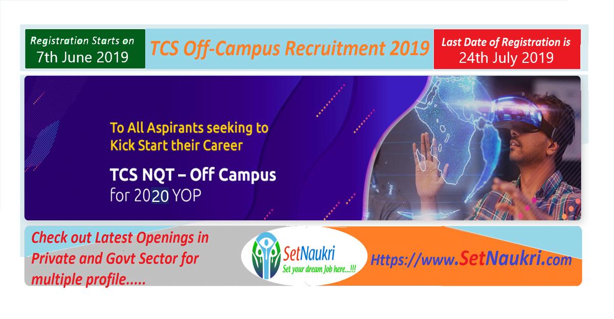 TCS Off Campus Recruitment   TCS National Qualifier Test (TNQT) For