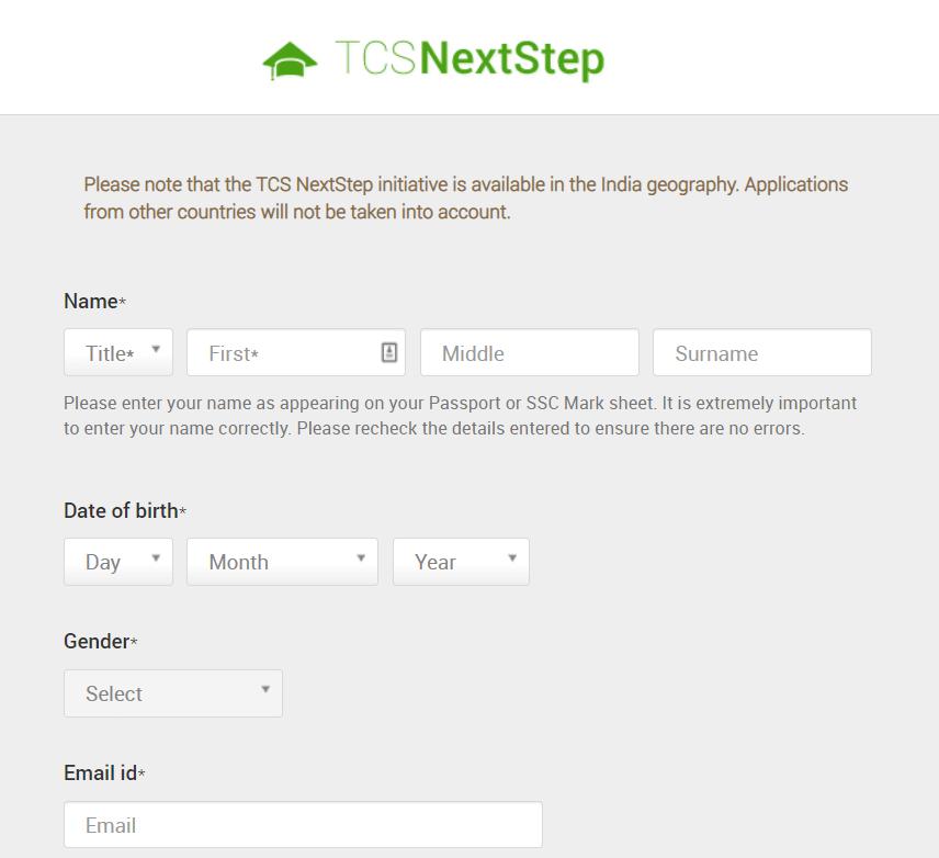 TCS-Nextstep-Registration-Step-3