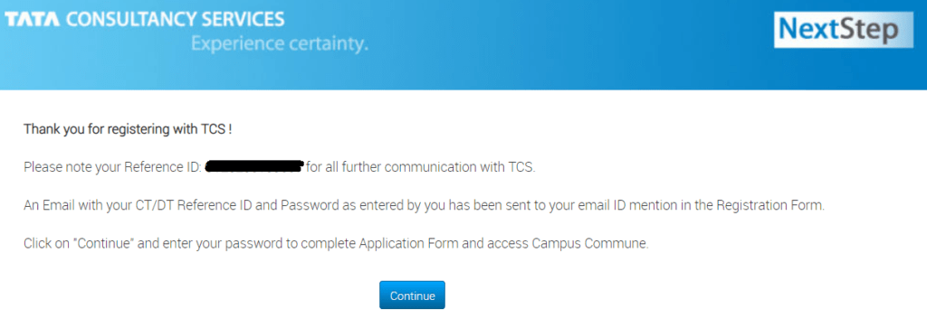 TCS-Nextstep-Registration-Step-4